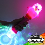 Penguin Mega Flashing Animal Wand 11""