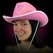 Flashing Pink Cowboy Hat