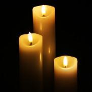 Flickabright Pillar Candles