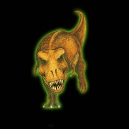 Glow 3D T-Rex Sticker