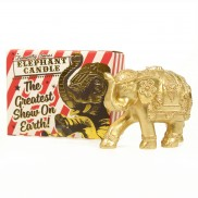 Gold Circus Elephant Candle