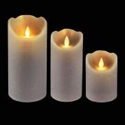 Grey Dancing Flame Candle