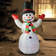 Inflatable Colour Beam Snowman