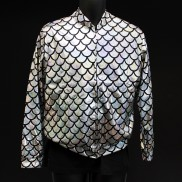 Silver Scale Holographic Jacket