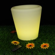 LED Illuminated Flower Pot