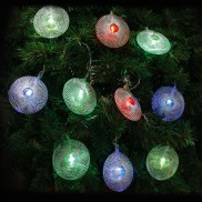 20 LED Mesh Disc String Lights