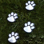 LED Solar Paw Print Lights