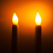 27.5cm LED Taper Candles (2 Pack)