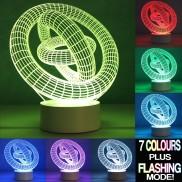 Optical Illusion 3D Gyro Lamp