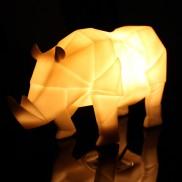 Origami Lamp White Rhino