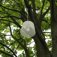 Outdoor Hanging White Lace Lamp