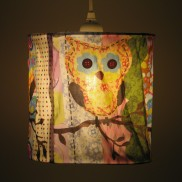Fabric Owl Lampshade (19033)