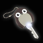 Owl Flash Light Key Cap