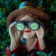 Peeping Woman Garden Stake