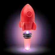 Light Up Rocket Bottle Stopper