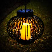 Solar Ellipse LED Candle Lantern