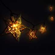 Solar Metal Star String Lights