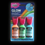 Tulip 3D Glow Fabric Paint (3 Pack)
