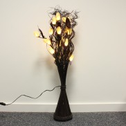 White Okra Floor Lamp