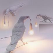 Seletti White Raven Lamp