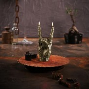 Zombie Rock Brass Hand Candle