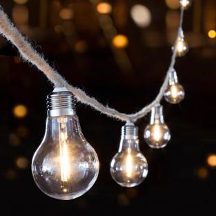 10 Bulb Jute Rope String Lights