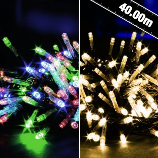 400 B/O Outdoor Timer LED String Lights