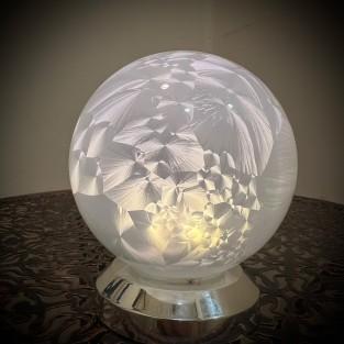 10cm Warm White Glass Ball Light