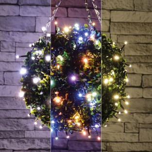 120 LED Battery Operated Timer Fairy Lights