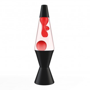 "14.5"" LAVA Brand Lava Lamp with Black Base - Red/Clear"