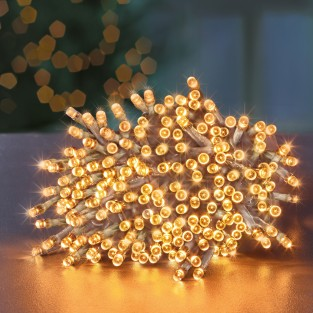 200 Led Vintage Gold Clear Cable Supabrights®