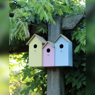 3 in 1 Pastel Bird Nesting Box