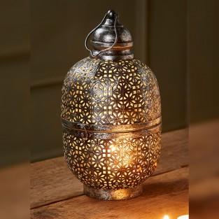Cutwork Dome Lantern 33cm Fair Trade (LT185)