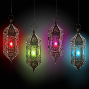 37cm Hanging Moroccan Indian Styled Lantern
