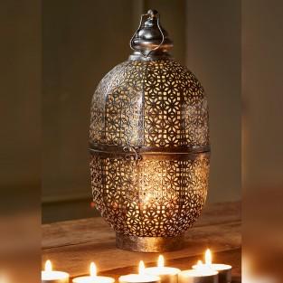 Cutwork Dome Lantern 42cm Fair Trade (LT186)