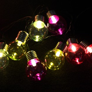 50 LED Multi-Coloured Retro Lights