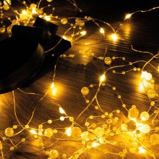 50 LED Solar Romantic Pearl String Lights