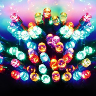 600 Outdoor Timer Lights - Multcolour Battery Operated