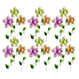 62cm Tall Jewelled Flower Stakes (24 pack)