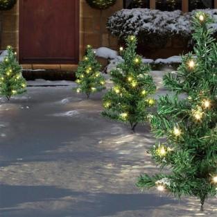 6 Piece Christmas Tree Path Light Set