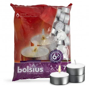 70 x 6hr Bolsius Tealight Candles