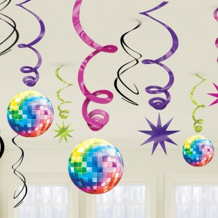 70's Disco Swirls Decorations
