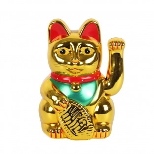 "8"" Lucky Gold Money Cat"