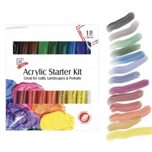 Acrylic Paint Starter Set (18 colours)