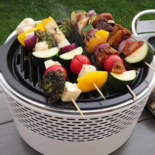 BCO Alfresco Smokeless Charcoal BBQ Grill - White