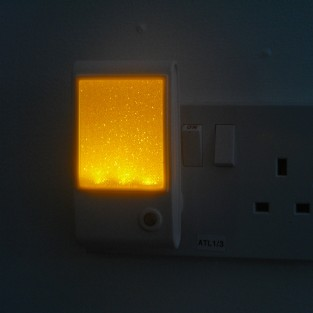Amber Sparkle LED Sensor Night Light