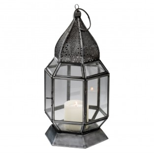 Antique Finish Moroccan Glass Lantern 25cm LT135