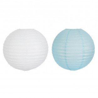 40cm Battery Paper Lantern Blue or White