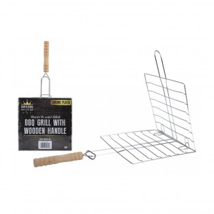 BBQ Grill with Wooden Handle