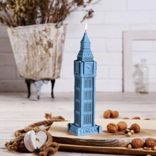 Large Big Ben Candle Blue